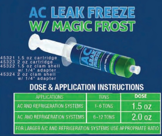 A/C LEAK FREEZE, W/MAGIC