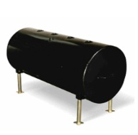 138-GALLON, CYLINDRICAL/ ROUND, HORIZONTAL OIL TANK,