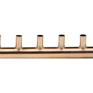 "1"" X 3/4"" - 3"" SPACING, COPPER HEADER/MANIFOLD"